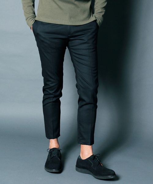 【Magine(マージン)】WOOL TROPICAL STRETCH TAPERED CROPPED PANTS パンツ(1913-40)