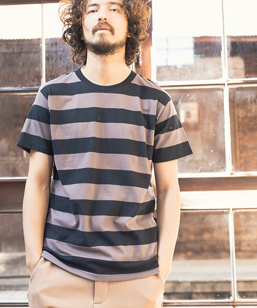 【CAMBIO(カンビオ)】Cotton Border Short Sleeve Tee Tシャツ(CMB-5-518)