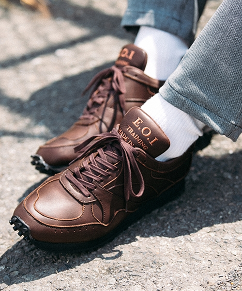 【MROLIVE(ミスターオリーブ)】WATER PROOF LEATHER -ALL SHIRINK BRITISH TRAINER SNEAKERS スニーカー(ME1001)