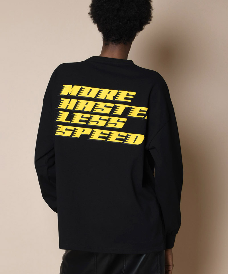 【SUPERTHANKS(スーパーサンクス)】MORE HASTE LESS SPEED BIC LONG T-SHIRT(ST203CS002L)